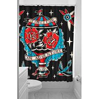 Sourpuss Adventure Shower Curtain