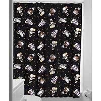Sourpuss Kewpie Monsters Shower Curtain