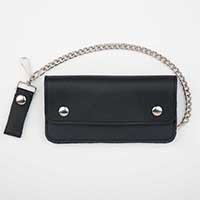 """Soft Leather 8"""" Trucker Wallet (Comes With Chain)"""