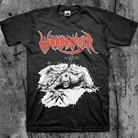 Warbringer- Crawl on front, Prey For Death on back on a black shirt