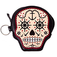Prime Time Sugar Skull Coin Purse by Banned Apparel