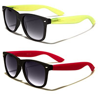 Sunglasses- BLACK FRONT GLOW IN THE DARK ARM (Various Colors!)