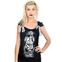 Shock Tee by Too Fast Clothing - Victorian Tattooed Lady - SALE sz S only