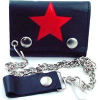 Red Star wallet (comes with chain)