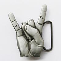 3D Devil Horns belt buckle (bb203)