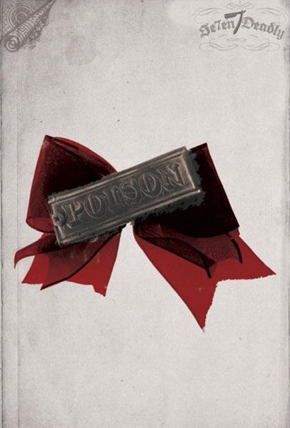 Poison Screw Hair Bow by Se7en Deadly - SALE