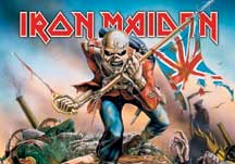 Iron Maiden- The Trooper Fabric Poster/Wall Tapestry