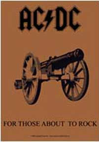 AC/DC- For Those About To Rock Fabric Poster/Wall Tapestry