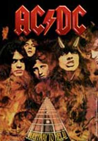 AC/DC- Highway To Hell Fabric Poster/Wall Tapestry