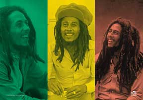 Bob Marley- Rasta Collage Fabric Poster/Wall Tapestry