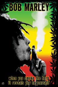 Bob Marley- When You Smoke The Herb... Fabric Poster/Wall Tapestry