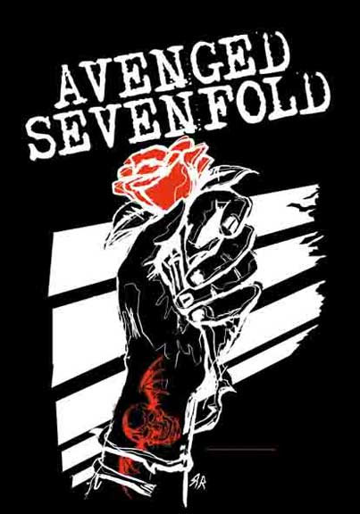 Avenged Sevenfold- Rose Hand Fabric Poster