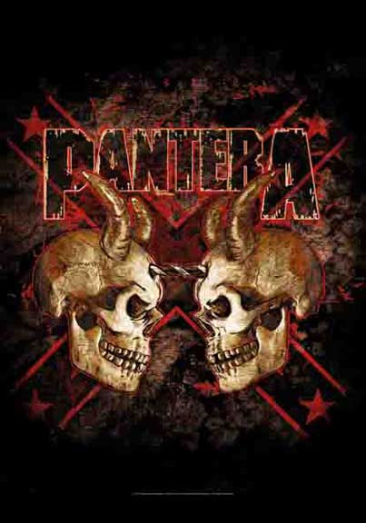 Pantera- Double Skull Fabric Poster