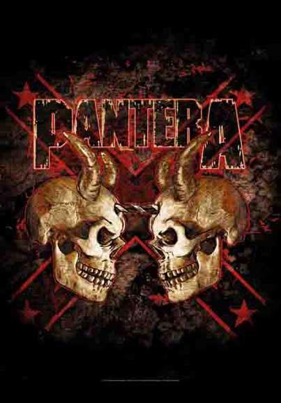 Pantera- Double Skull Fabric Poster