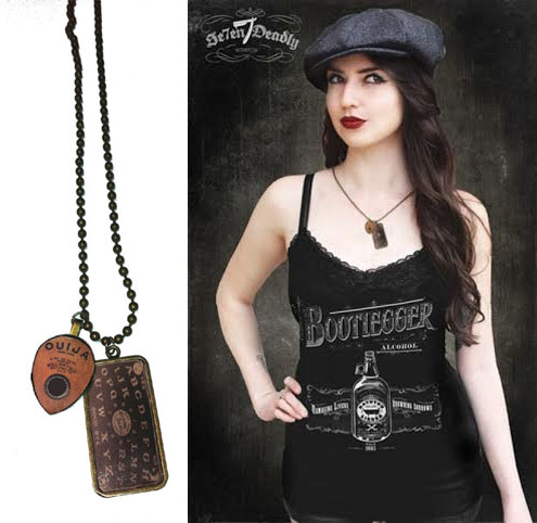 Ouija Board Charm Necklace by Se7en Deadly - SALE
