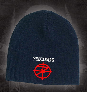 7 Seconds- Logo embroidered on a black beanie