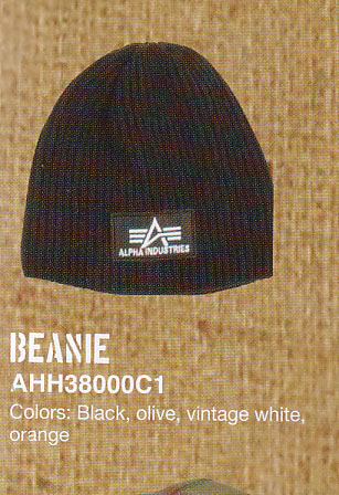 Alpha Industries- Logo on a Heavy Rib Beanie