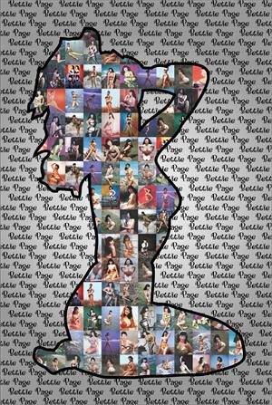 Bettie Page- Silhouette Collage poster