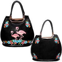 Flamingo Handbag by Banned Apparel in Black