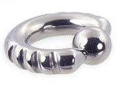 Surgical Grade Stainless Steel Cut Captive Ring And Ball
