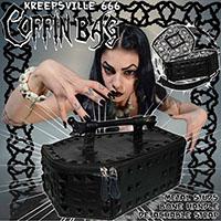 Black Studded Coffin Vinyl Bag by Kreepsville 666