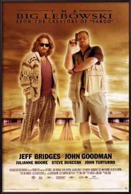 Big Lebowski- Movie Score poster