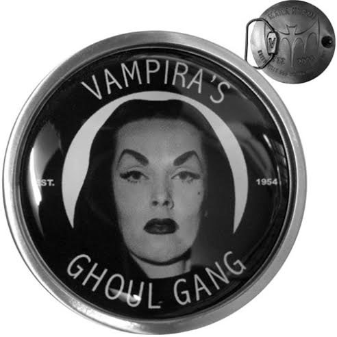 Vampira Ghoul Gang belt buckle by Kreepsville 666 (bb381)