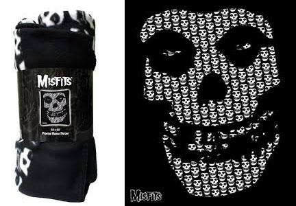 Misfits- Skull Fleece Blanket