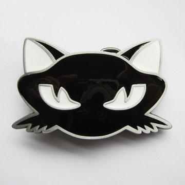 Black Cat Head belt buckle (bb142)