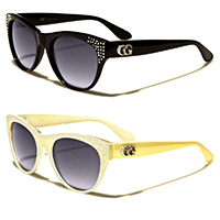 CG Womens Rhinestone Cat Eye Sunglasses (Various Colors) - SALE
