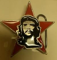 Che Guevara- Face & Star belt buckle (bb225)