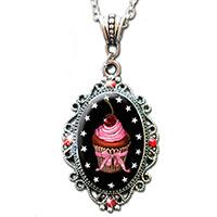 Cupcake Sparkle Necklace by Alkemie
