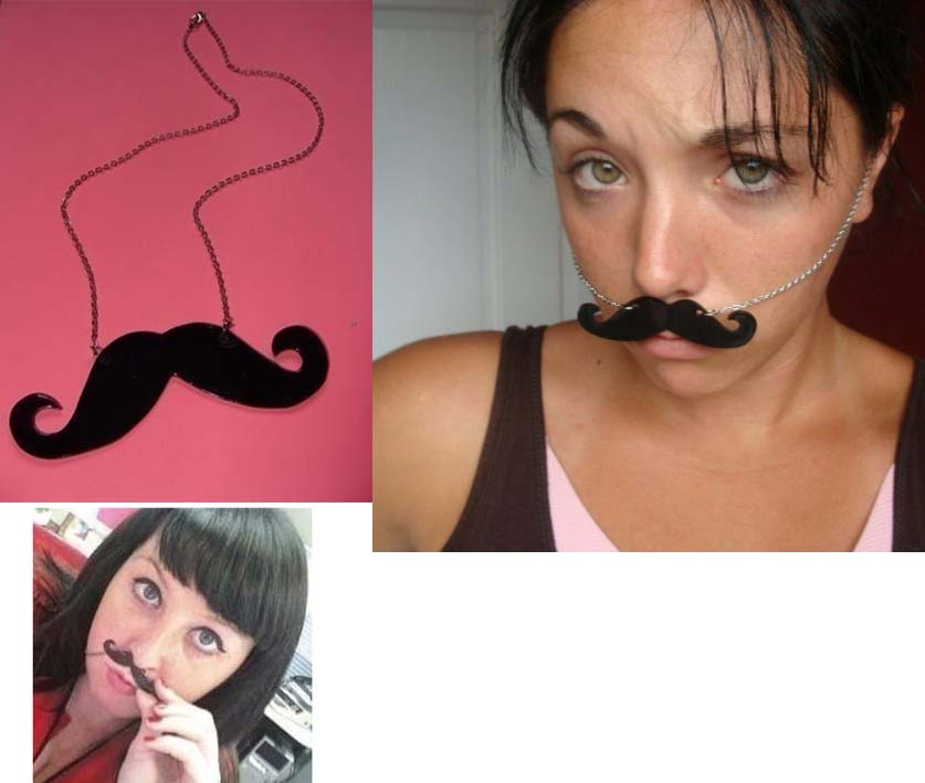 Dali Mustache Necklace by Little Angels  - SALE