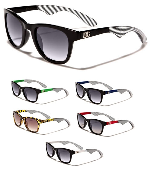 DG Girls Sunglasses- Color & Striped Arm (Various Colors!)