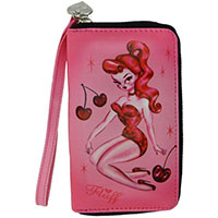 Cherry Doll Pinup Wristlet by Fluff