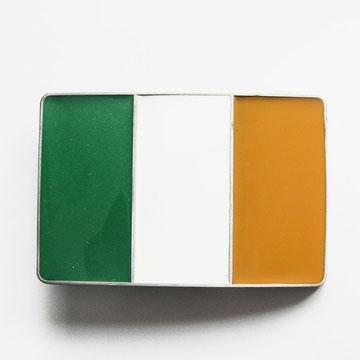 Irish Flag Belt Buckle (bb181)