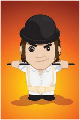 Clockwork Orange- Cartoon Alex poster