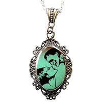 Cameo Frank & his Bride Necklace by Alkemie