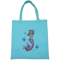 Tropical Mermaid Vinyl Tote Bag by Fluff - SALE