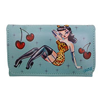 Leopard Girl Pinup Wallet  by Fluff