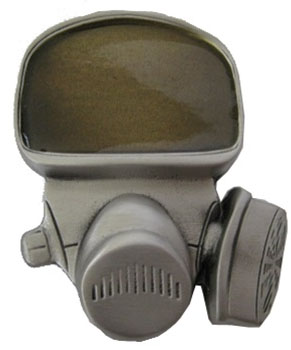 Gas Mask belt buckle (bb143)
