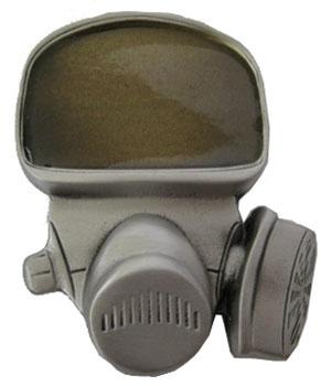 Gas Mask belt buckle (bb143)
