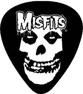 Misfits- Skull Guitar Pick