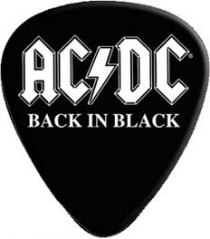 AC/DC- Back In Black Guitar Pick