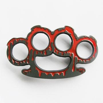 Bloody Brass Knuckles belt buckle (bb335)