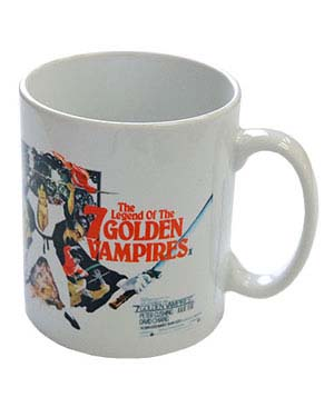 Hammer Films- Legend Of The 7 Golden Vampires coffee mug by Darkside  - SALE