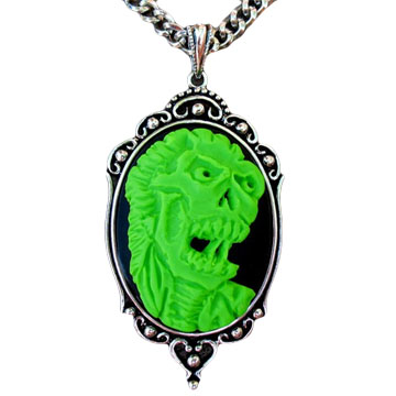 Green Zombie Necklace by Horribell - SALE