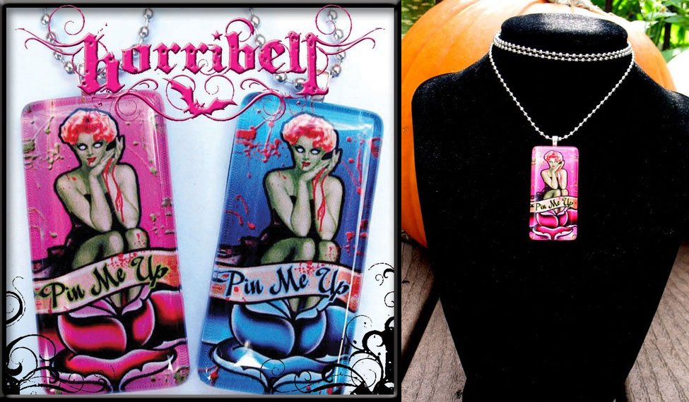 Pin Me Up Zombie Necklace by Horribell - SALE - Pink only
