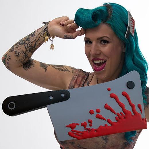 Big Cleaver Bloody Hair Slide by Kreepsville 666
