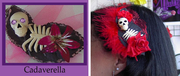 Cadaverella hair clips by Hairy Scary - SALE Monster Green only